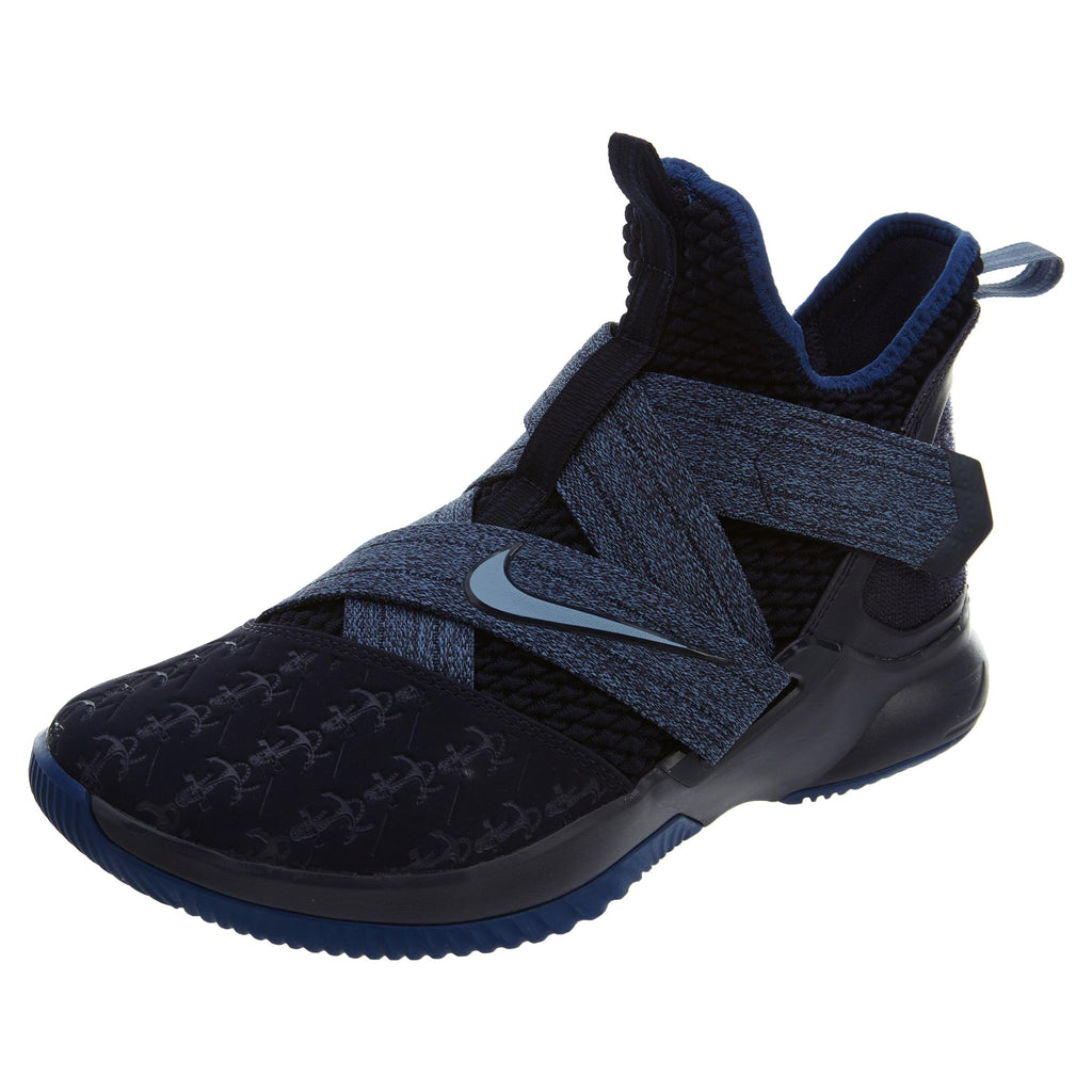 f6a430dbbc6 Nike Lebron Soldier XII Shoes Blackened Blue Mens Style  AO2609