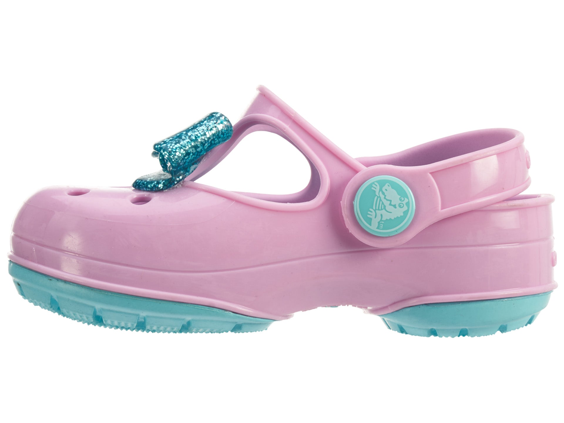c5842f6d820cd0 Crocs Carlie Gltter Bow Mj Ps Toddlers Style   203452. CROCS   Baby    Toddler Shoes