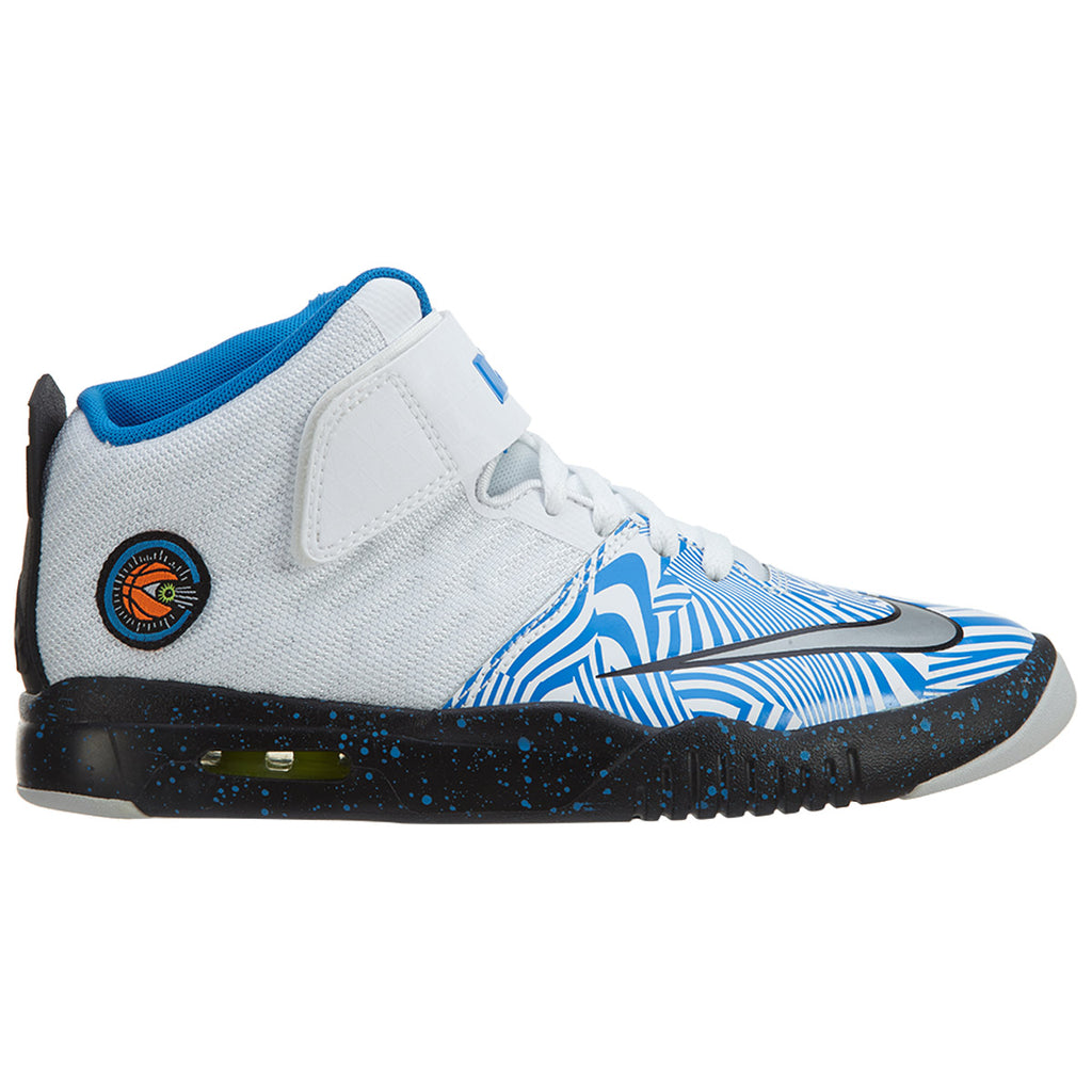 sports shoes f4bc7 81d82 Nike Lebron Air Akronite Blue White Youth GS Boys Mens Style :819832