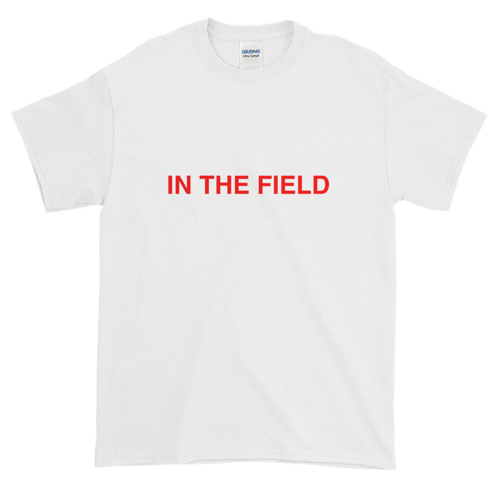 In The Field 'Statement' Short-Sleeve T-Shirt White/Red