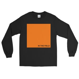 In The Field 'Block' Long Sleeve T-Shirt Black/Orange