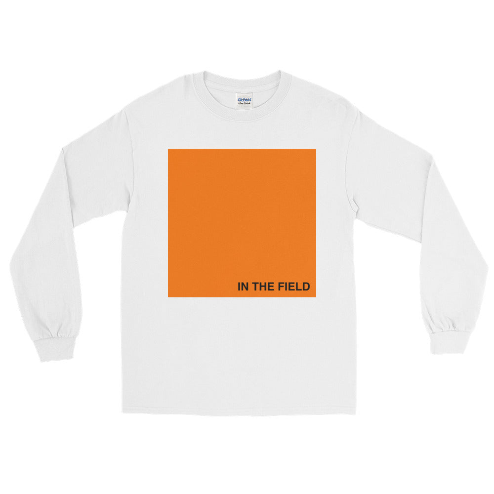 In The Field 'Block' Long Sleeve T-Shirt White/Orange