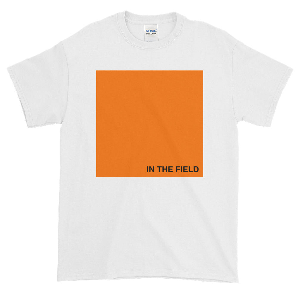 In The Field 'Block' Short-Sleeve T-Shirt White/Orange
