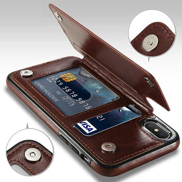 Leather Phone Case >> 4 In 1 Luxury Leather Case For Iphone Halochic