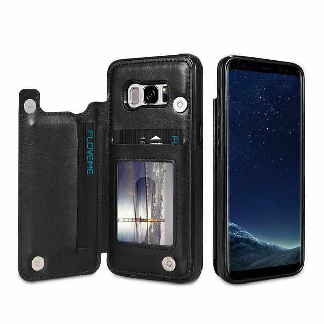 huge selection of 64293 dde0c 4 in 1 Luxury Leather Case For Samsung Phones