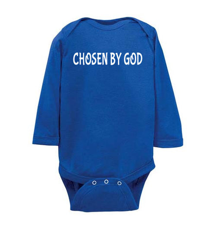 CHOSEN BY GOD BABY LONG SLEEVE BODY SUIT