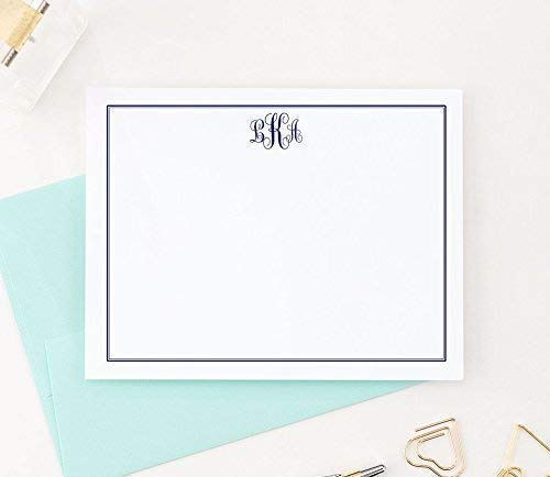 Monogrammed Stationary Monogram Stationery Quantity