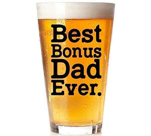 Stepdad Best Bonus Ever Glass