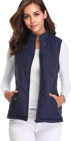 Argstar Womens Collar Lightweight Quilted