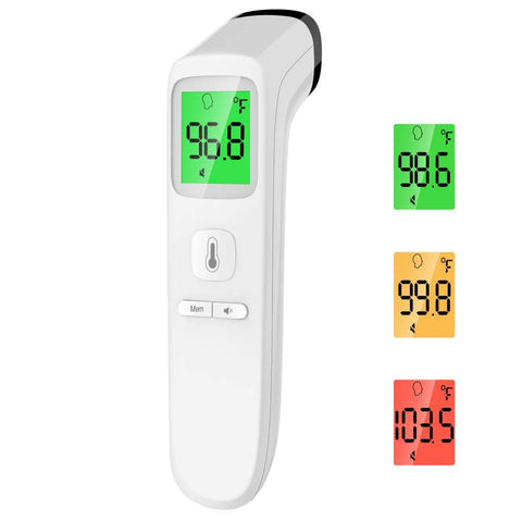 Image of Touchless Thermometer Forehead Batteries Storage