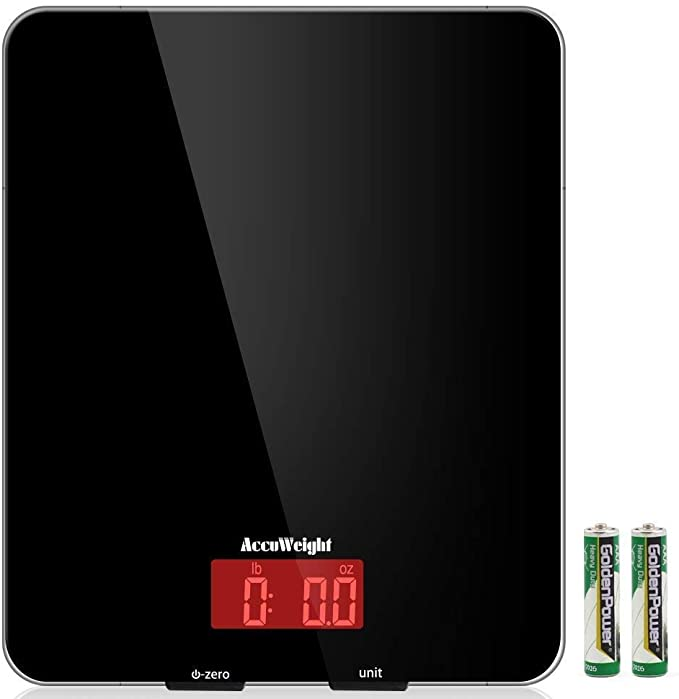 AccuWeight scale Multifunction Capacity Tempered