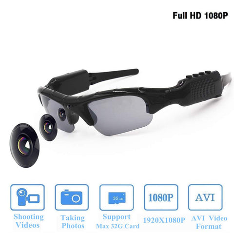 Sunglasses Recording Motorcycle Traveling Including