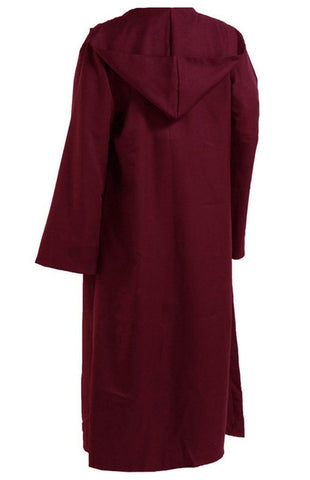 Hooded Knight Cosplay Costume Burgundy