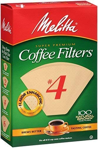 Melitta Number Coffee Filters Natural