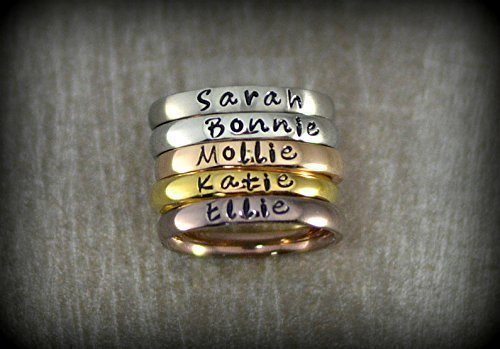 Personalized Stackable Name Ring Stacking