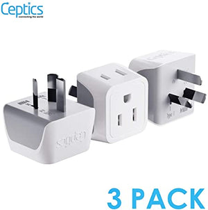 Australia Zealand Travel Adapter Ceptics