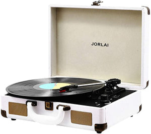 JORLAI Turntable Bluetooth Rechargable Recording