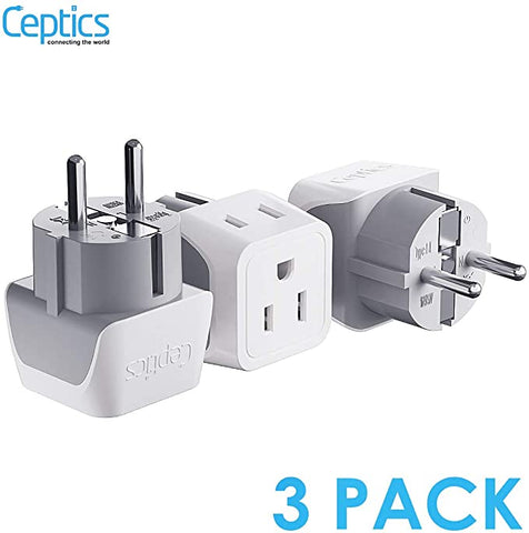 Ceptics Schuko Germany France Adapter