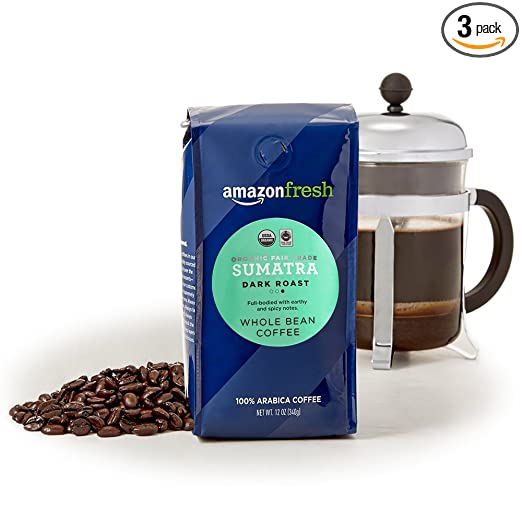 AmazonFresh Organic Trade Sumatra Coffee