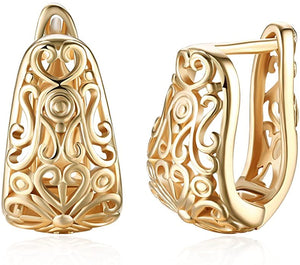 Filigree Earrings Hollowed out Fashion Hypoallergenic