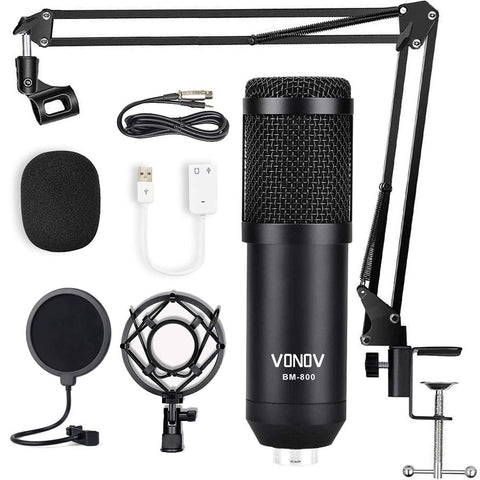 Microphone Condenser Adjustable Instruments Podcasting