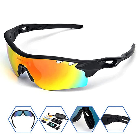 SPOSUNE Polarized Sunglasses Interchangeable Baseball