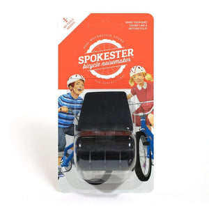 SPOKESTER Bicycle Noise Maker Black