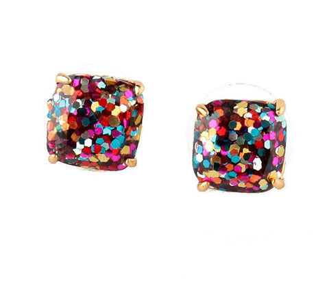 New York MultiColor Glitter Earrings