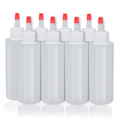 8 pack Plastic Squeeze Condiment Bottles