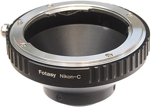 Fotasy F Mount C Mount Camera Adapter