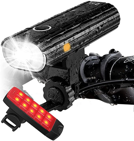 Te Rich Rechargeable Bike Lights Front