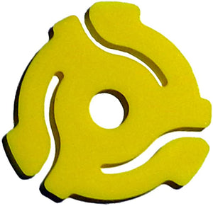Yellow Plastic Vinyl Record Adaptor