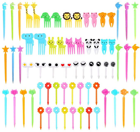 Animal Picks Bento Cartoon Toothpicks