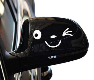 Yonger Smile Sticker Mirror Rearview