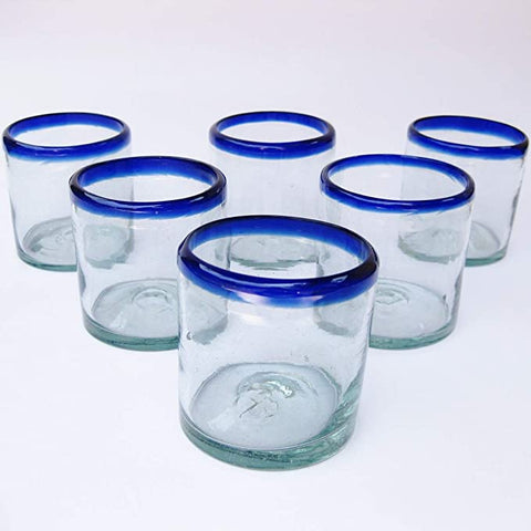 Mexican Blown Glass Glasses Cobalt