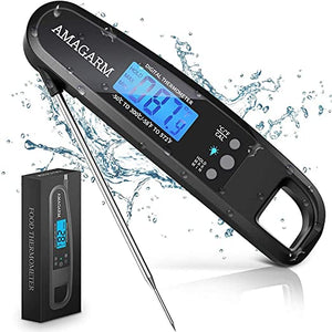 AMAGARM Thermometer Cooking Waterproof Grilling
