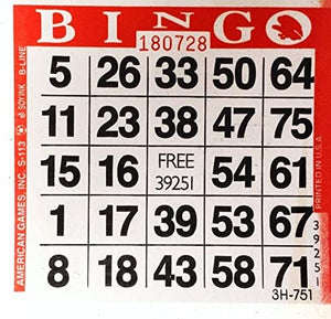 Red Bingo Paper Cards cards