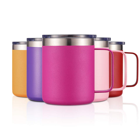 Stainless Insulated Coffee Tumbler Fuschia