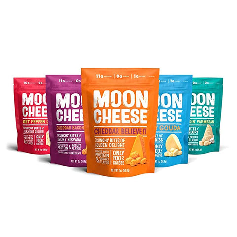 Moon Cheese Assortment Cheddar Parmesan