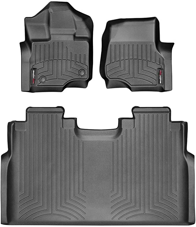 2015 2018 F 150 Weathertech Liners Full Supercrew Only Black