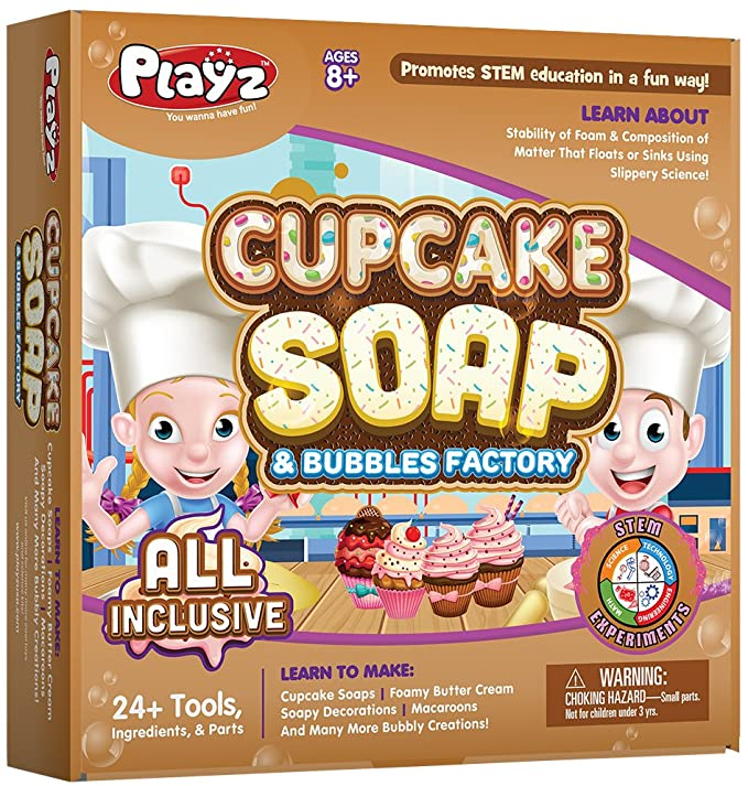 Playz Cupcake Bubbles Science Factory