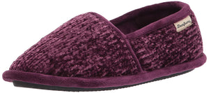 Dearfoams womens Chenille Slipper Aubergine