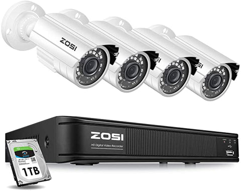 ZOSI Security Surveillance Customizable Detection