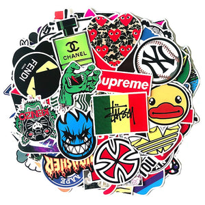 Waterproof Stickers Skateboard Motorcycle Hypebeast