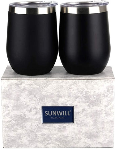 SUNWILL Insulated Stainless Stemless Champaign