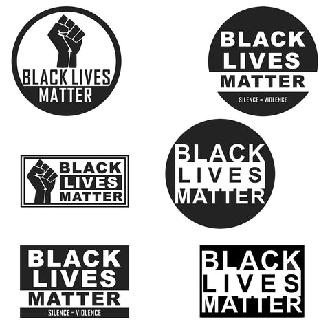 Stickers Anti Racism Movement Skateboard Motorcycle