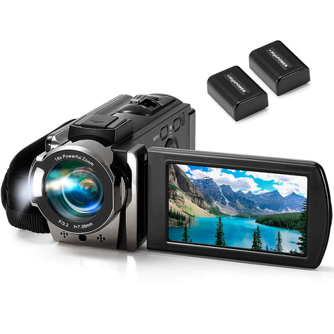 Image of Camcorder kimire Vlogging Recorder Batteries