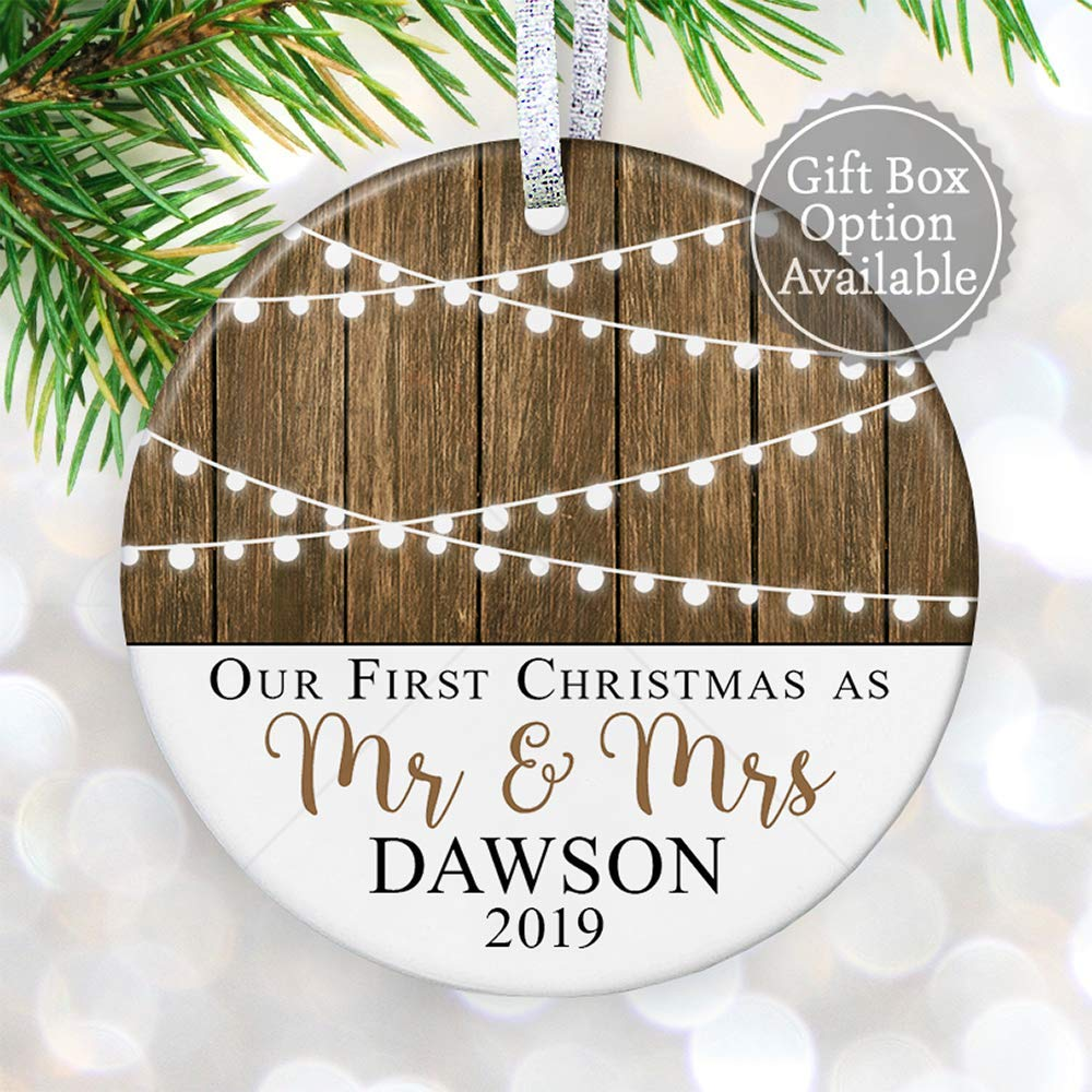Christmas Ornament Personalized Newlyweds Gift