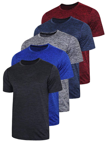 Pack Mens Active Quick Shirts