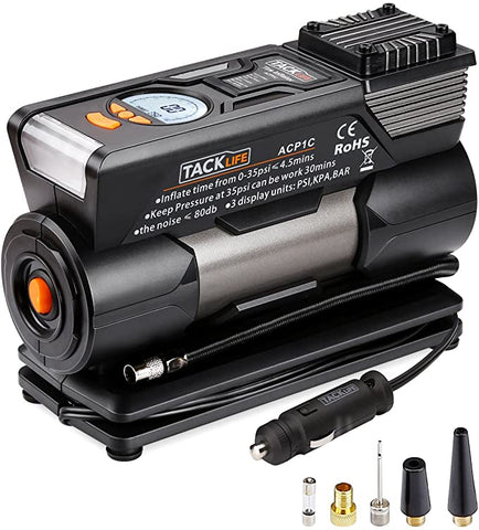 Image of TACKLIFE ACP1C Portable Tire Inflator